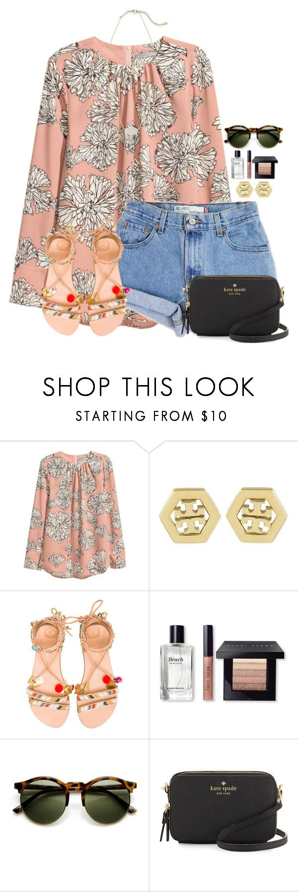 """3rd day of Spring Break!!"" by flroasburn ❤ liked on Polyvore featuring Levi's, Tory Burch, Elina Linardaki, Bobbi Brown Cosmetics, Kate Spade and Kendra Scott"