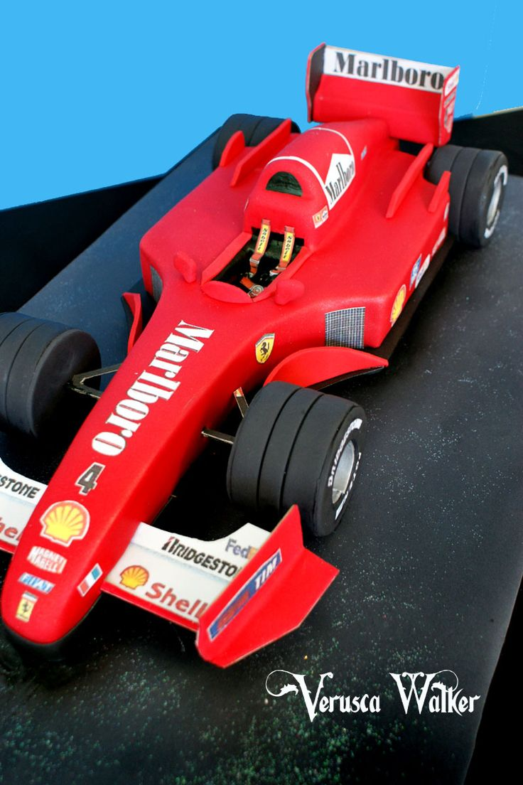Ferrari racing car cake images for F1 car cake template