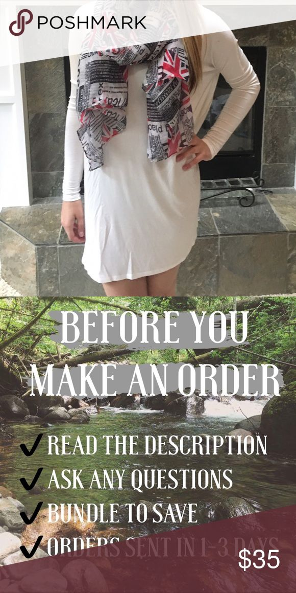 Cream Spring Dress Long sleeve cream dress. Perfect for spring! Dolman style at arms. Flowy dress. Brand new from my boutique!! *Scarf sold separately* not Loft• No Trades • Price is firm unless Bundled • 15% off of bundles of 3 or more • Francesca's Collections Dresses Long Sleeve