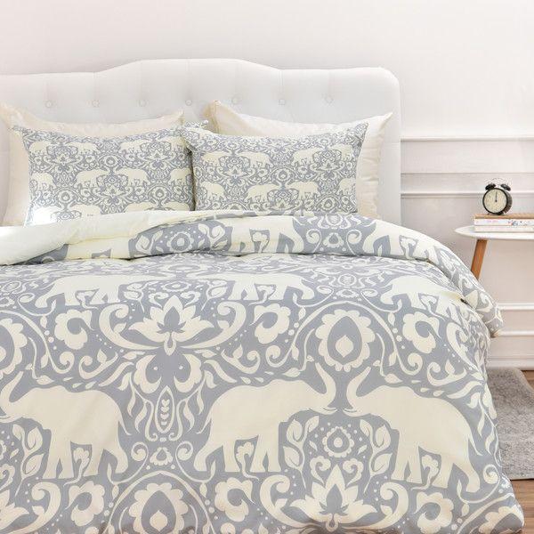 Jacqueline Maldonado Elephant Damask Paloma Duvet Set by DENY Designs | Joss & Main