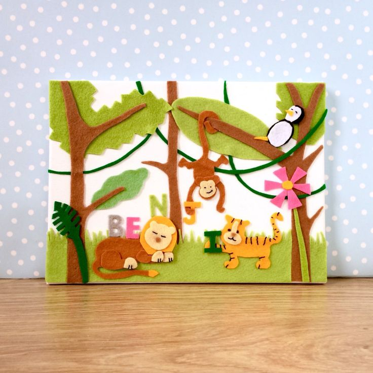 Finally this wonderful jungle nursery decor is available in my Etsy store. Come take a look