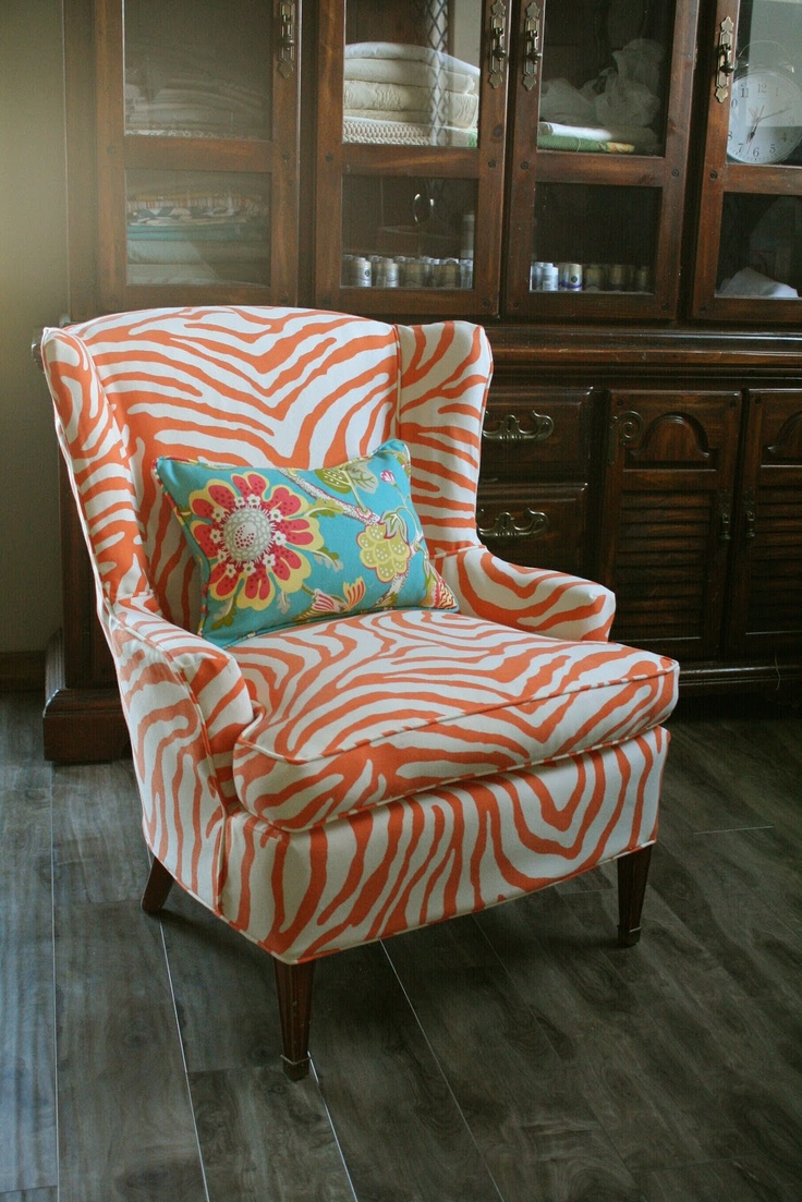 Lovely Custom Slipcovers By Shelley: Sewing Contest Week Zebra Chair. White Check  This Out. So Excited For Mine Now.