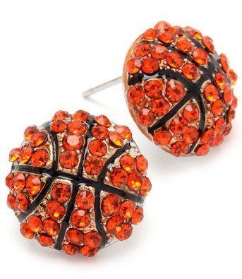 Basketball Girl - Mini Basketball - Girl's Basketball Team Earrings