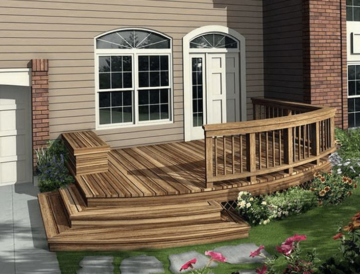 Front porch deck designs