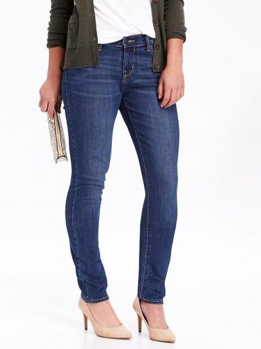 Old Navy Curvy Skinny Jeans For Women Size Tall – Blue reeds. Tall Women Clothing at PrettyLong.com