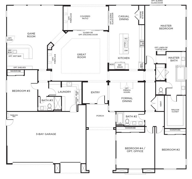 Olive hill plan 3a san diego pardee homes basement - 4 bedroom house for sale san diego ...