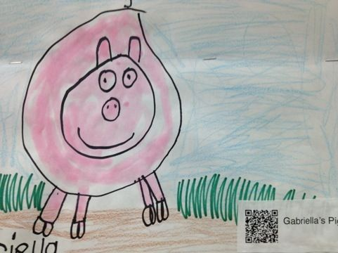 504 best library technology images on pinterest french people add a qr code to artwork that takes you to a link of a kid telling fandeluxe Choice Image