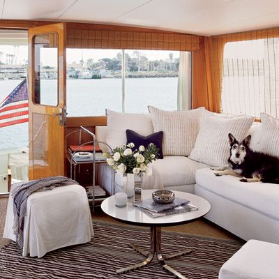 True Blue Beach Retreat. Houseboat LivingHouseboat IdeasBoat DecorYacht  InteriorYacht ...