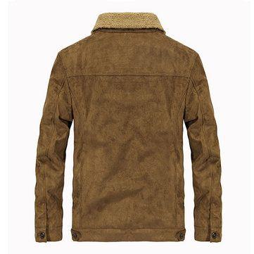 AFSJEEP Thick Warm Velvet Plus Men Fashion Casual Jacket Parkas at Banggood