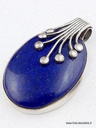 PENDENTIF LAPIS LAZULI,  bijoux en pierre, bijoux en lapis lazuli, bijoux pierre naturelle, av24