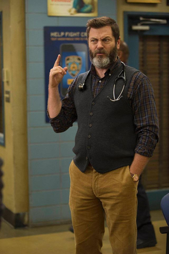 Did someone need a doctor? Catch Nick Offerman in this Sunday's Brooklyn Nine-Nine!