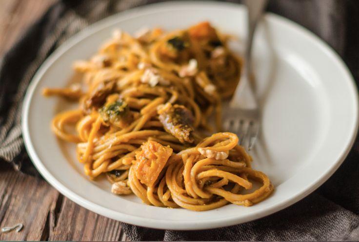 Sì, gli spaghetti zucca e porcini sono la ricetta giusta per i weekend d'autunno