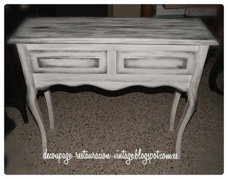 decoupage transfer y otras tcnicas restauracin de muebles tutoriales diy y craft ideas pintar muebles nuevos de madera blanco y plateado