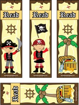 Pirate Bookmarks, Pirate, Bookmarks - Free Printable Ideas from Family Shoppingbag.com