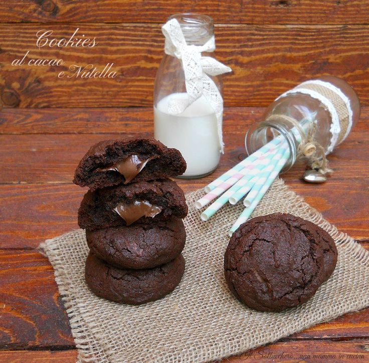Cookies al cacao e nutella