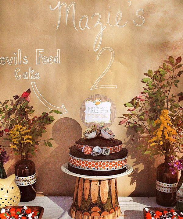 Playful Owl & Pumpkin Fall Birthday Party
