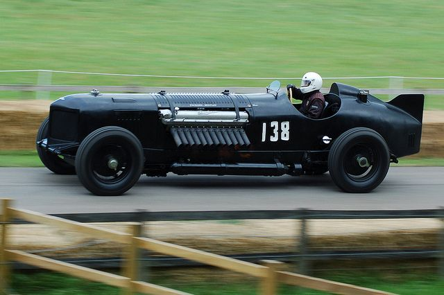 "Packard-Bentley ""Mavis"" - 1,500bhp 42-litre Packard V12 engine, mounted on a modified 1930 Bentley chassis."