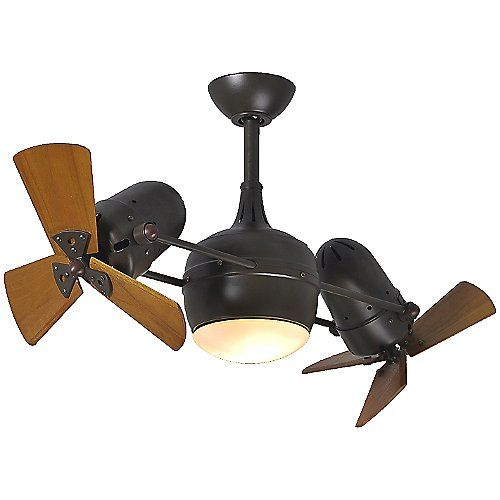 Dagny Dual Rotational Ceiling Fan with Light Kit by Atlas Fan Company at Lumens.com