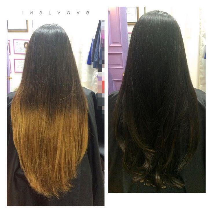 Color más Shock de Keratina y corte #hairstyle #haircut #hairsalon #hairinstagram #hairinspiration #cabellosano #cabellohermoso #cabellolargo #javianabeauty