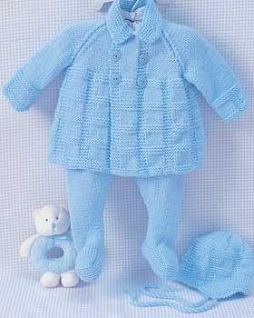 Pram Set (knit) free pattern