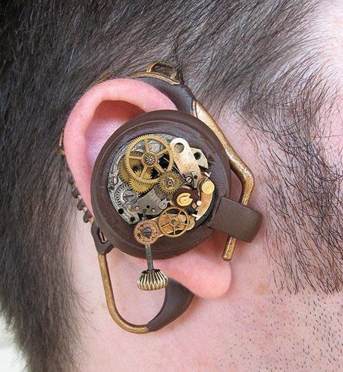Steampunk Bluetooth ear piece or... a good disguise for the hearing aid I'm likely to need at some point soon...