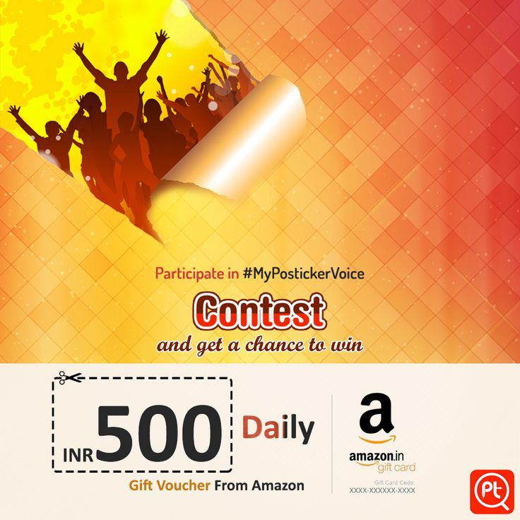 ‪#‎MyPostickerVoice‬ ‪#‎Contest‬ Participate in #MyPostickerVoice contest and get a chance to win INR 500/- voucher daily from amazon For more Download Posticker App here: http://bit.ly/1P36Dup