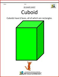3d formas imprimibles CUBOID col