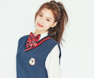 """I.O.I's Doyeon """"Dream Girl"""" promotional picture."""