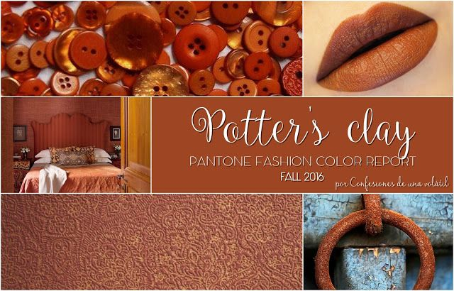 Pantone Fashion Color Report Fall 2016: Potter's clay