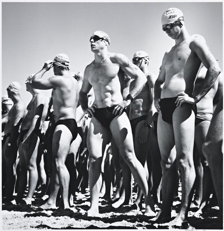 'Surf Race, Bondi, 2001' by Rex Dupain. Silver gelatin photograph. Edition 10/35.