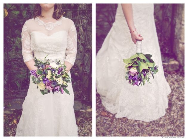 Vintage feel wedding bouquet by Mckenzie Brown Photography