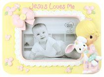 Precious Moments Photo Frame: Girl, Jesus Loves Me