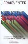 Life at the speed of light : from the double helix to the dawn of digital life by J. Craig Venter.  In 2010, scientists led by J. Craig Venter became the first to successfully create 'synthetic life' - putting humankind at the threshold of the most important and exciting phase of biological research, one that will enable us to actually write the genetic code for designing new species to help us adapt and evolve for long-term survival. #speedread #rwpchat