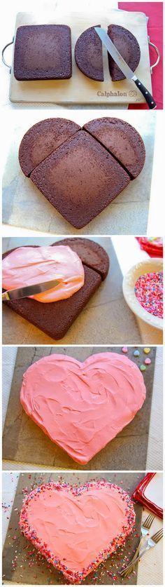Toller Tipp für einen Kuchen in #herzform