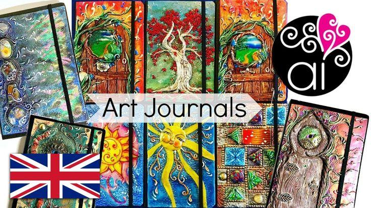 Art Journals Archidee   Cover in Pasta Polimerica su Quaderni per Schizzi
