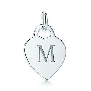 M Alphabet In Heart Alphabet heart tag let...