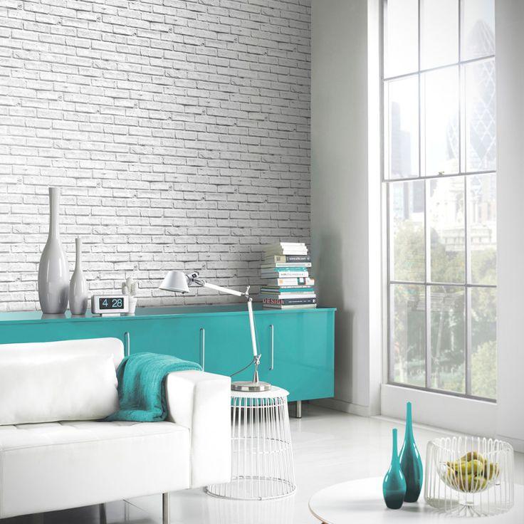 Arthouse White Brick Wallpaper 623004 Http Ecorating Co Uk