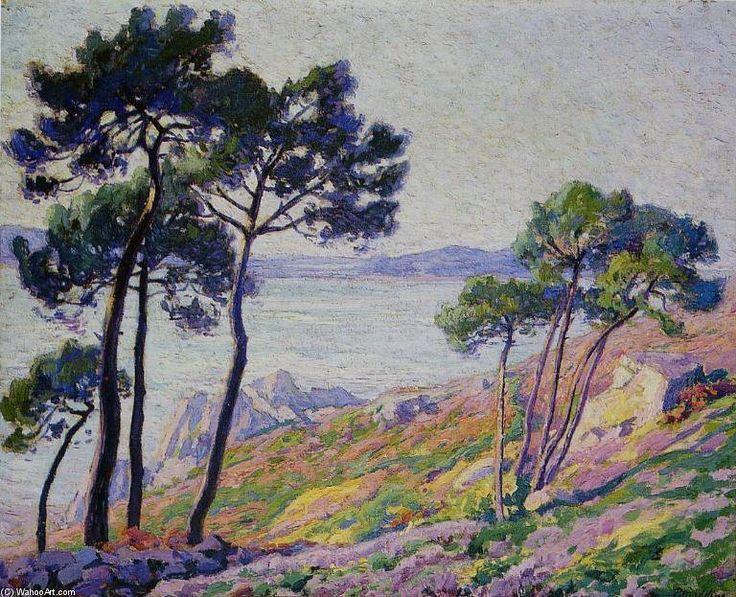 Pins Au Bord De La Mer de Paul Madeline (1863-1920, France)