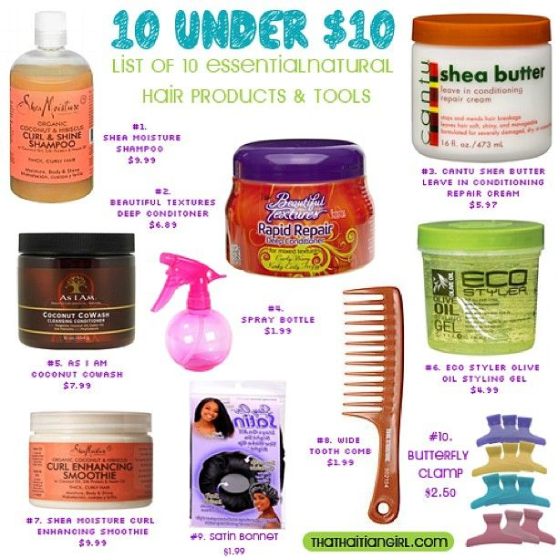These our my 10 essential products & tools under $10. #natural