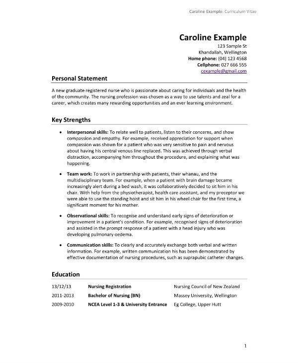 Cv Nursing Template Angelo Cv Template Cv Template Nz Nursing Resume Template