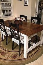 diy farm table on the cheap, diy, how to, painted furniture, rustic furniture, woodworking projects, TADA