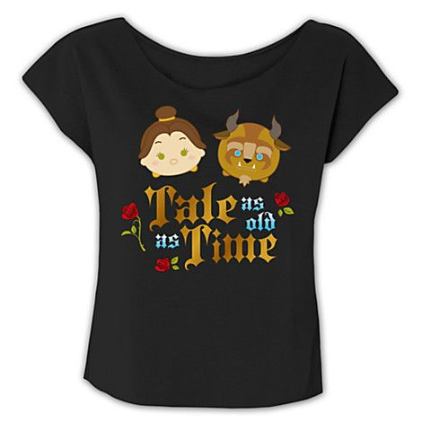 Beauty and the Beast ''Tsum Tsum'' Fashion Tee for Women - Limited Release | Disney Store