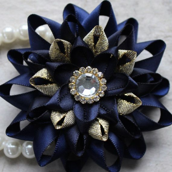 Wrist Corsage Navy Blue Corsage Navy Blue and by PetalPerceptions