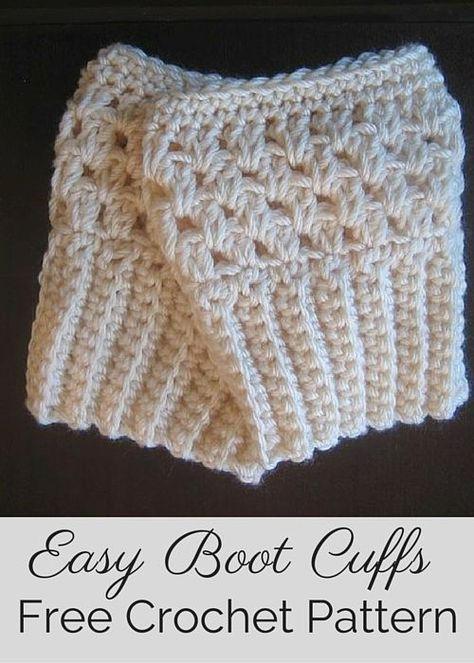 Free crochet pattern by Posh Patterns - easy and elegant boot cuffs/boot toppers.
