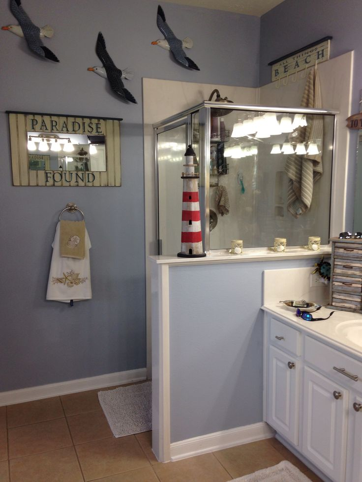 Beach theme bathroom for the home pinterest beach theme bathroom cape cod style and bath