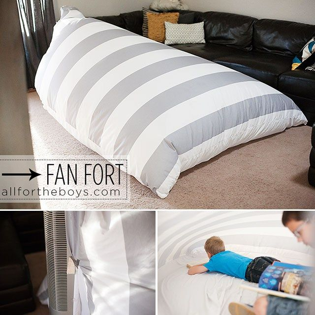 Fan Fort! Fun with Kids. Indoor activities