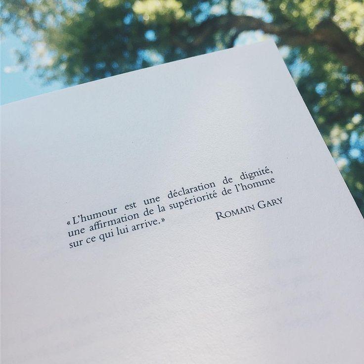 Citation Romain Gary   L'humour est une déclaration de dignité, une affirmation de la supériorité de l'homme sur ce qui lui arrive