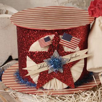 Americana Hat Box: July4Th, Hat Boxes, Hats Boxes, Patriots Americana, Americana 4Th, Summer Holidays, Amazing Americana, Americana Hats, Holidays Getaways