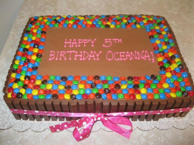 Chocolate Bar Covered Cake