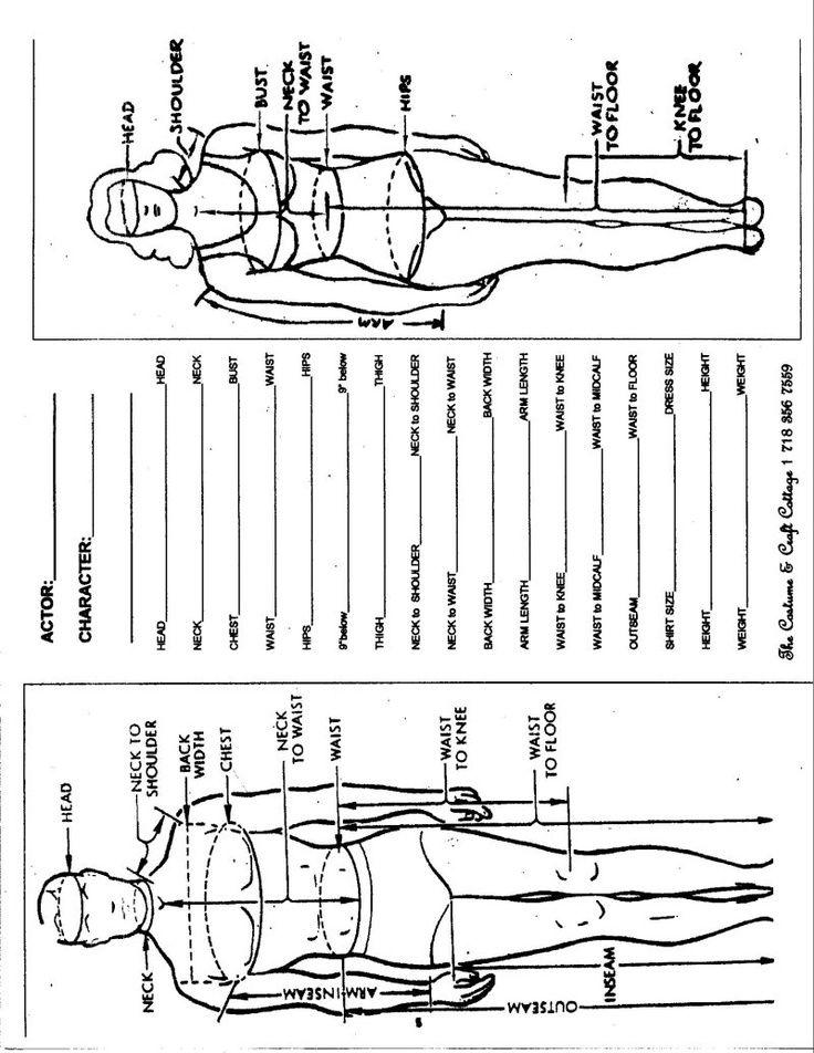 body measurement worksheets - laveyla.com